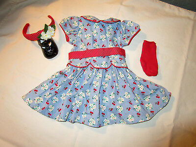 Dress with accessories for Emily, American Girl doll