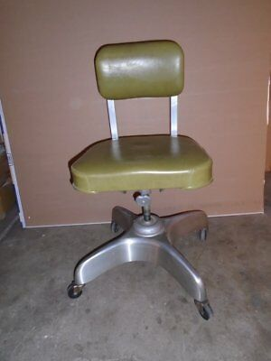 Rare Vintage 1966 Emeco Tanker Desk~Office Chair~Industrial~Steampunk~All Orig.