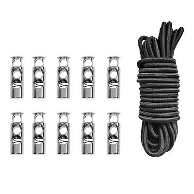 16.4ft Elastic Bungee Rope Shock Cord Tie Down+10Pcs Barrel 2 Hole Cordlocks