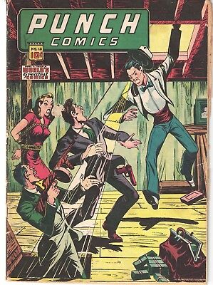 """PUNCH COMICS #18 BONDAGE HYPODERMIC HARRY """"A"""" CHESLER  1946  GD/VG to VG-"""