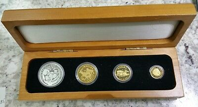1994 South Africa Ultra Rare 4 Piece Proof Set in Orig. Wood Box 166 PRODUCED!!