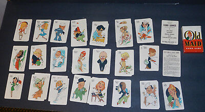 Vintage Old Maid Cards Whitman With Directions Of Play Near Mint Complete 1930's