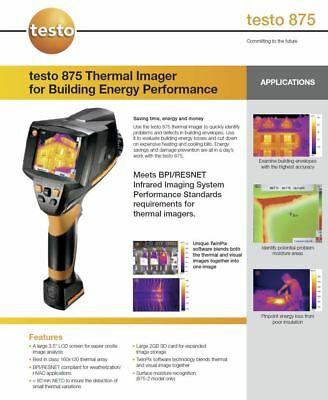 testo 875-2i Thermal Imaging Camera 160x120 Resolution (Upgradable to 320x240)
