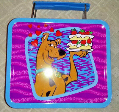 Blue Scooby Doo Mini Lunch Box Metal/Tin Strawberry Shortcake EUC Rare HTF