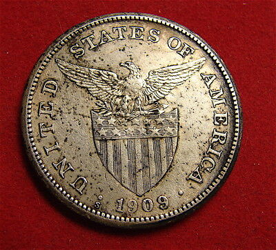 Philippines Silver One Peso Coin-----1908-S