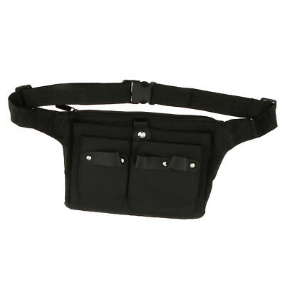 Pratical Canvas Hairdressing Tool Belt Holder Scissor Shear Waist Bag Pouch