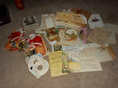 Huge Lot Of Ephemera Taken From Old Victorian Scrapbook Hundreds Of Rare Pieces!