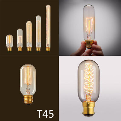 Vintage Retro Style Edison T10/T45/T300 Bulb Light Tube Lamp E26 110V Home Decor