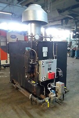 2008 40HP Parker Natural Gas Fired Steam Boiler 150 PSI