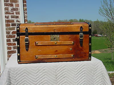 Antique Trunk   Circa 1850's 1860's -158 Plus Years Years Old?   Nicely Restored