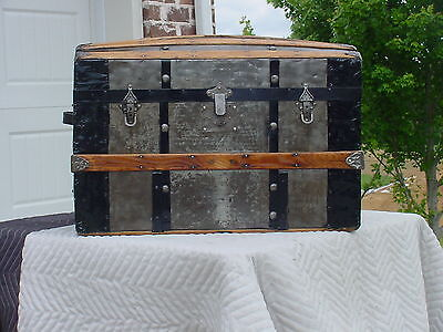 Antique Trunk  Very Nice Restoration  Very Old Trunk! As Much As 128 Years Old!