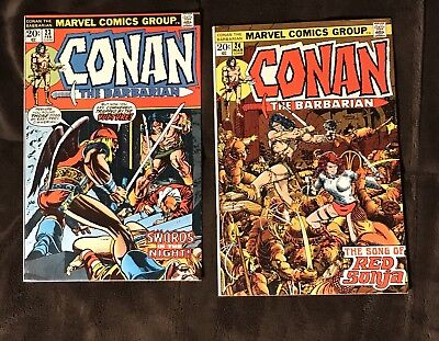 Conan the Barbarian #23 & 24 1st Red Sonja (Feb 1973, Marvel) VF/NM