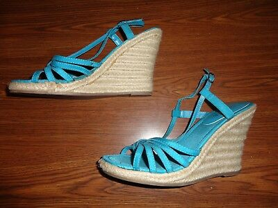 d6fa9ffd3ce0 SAHARA BLUE WEDGE Sandals Women s Size 8 -  20.06