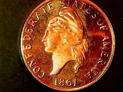 Confederate 1861  1 Cent  Reproduction  Great Coin