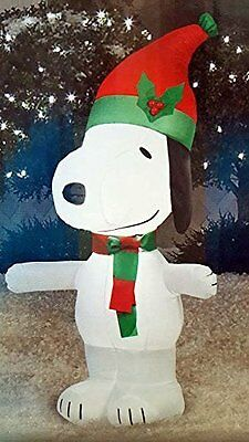 snoopy peanuts airblown inflatable yard decor christmas holiday 35ft tall air