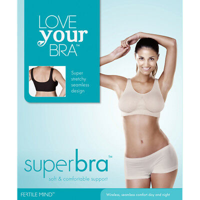 SuperBra Bra by Fertile Mind (available in black or nude)