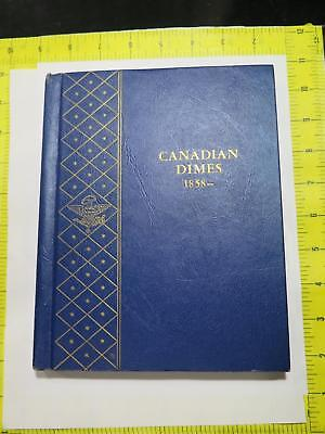 Canada 1858-1980 10 Cents Dimes Album Victoria George Edward Coin Collection Lot