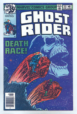 Ghost Rider #35 VF Starlin, Death Race Classic Cover/Story