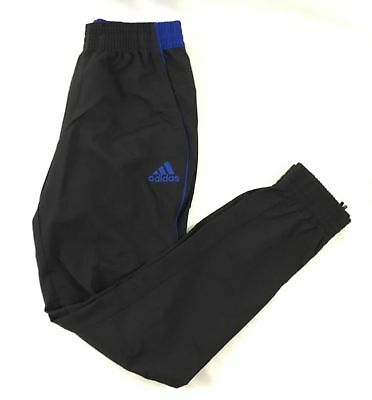adidas Men's Foundation Basketball Pants Black/Blue BQ5331 New With Tags