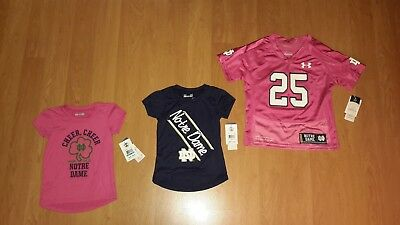 Under Armour Infant, Toddler OR Young Girls' Notre Dame Fighting Irish Shirt 23+