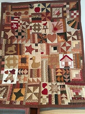 HANDMADE SAMPLER QUILT With Provenance