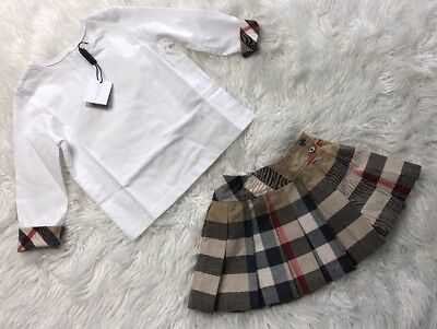 Burberry Children Top Size 6 M White Top Toddler