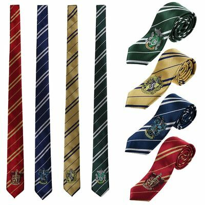 Popular Harry Potter Gryffindor Slytherin Hufflepuff Ravenclaw Style Ties New