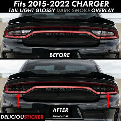 Dodge Charger Tail Lights >> For 2015 2019 Dodge Charger Tail Light Smoke Rear Precut Tint