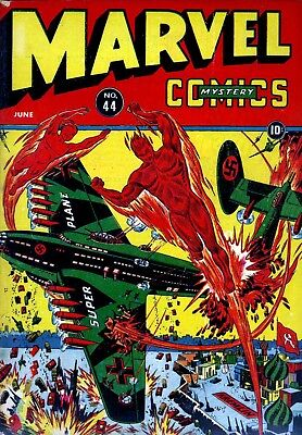 Marvel Mystery Comics #44 (1943) Photocopy Book - Human Torch Sun-Mariner Timely