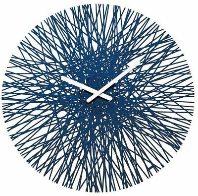 Koziol Wall Clock Silk'n Blue 45 Cm Accessories Decorum Home