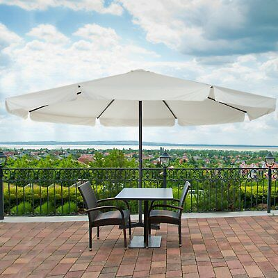 Outsunny 16FT Large Round Patio Umbrella Outdoor Market Parasol Garden Sunshade