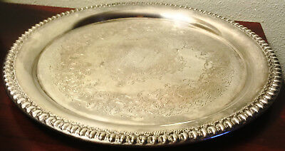 "Wilcox International Silver Co. IS Brandon Hall Silverplate 10 1/4"" Tray #7570"
