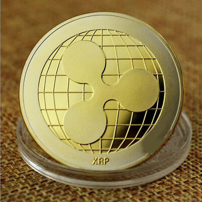 Gold Plated Ripple Coin XRP CRYPTO Commemorative Ripple XRP Collectors Coin Gift