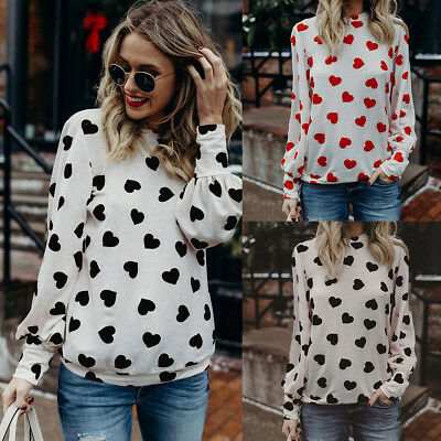 Fashion Womens Ladies Long Sleeve Loose Casual Blouse Summer Cotton Tops T-Shirt