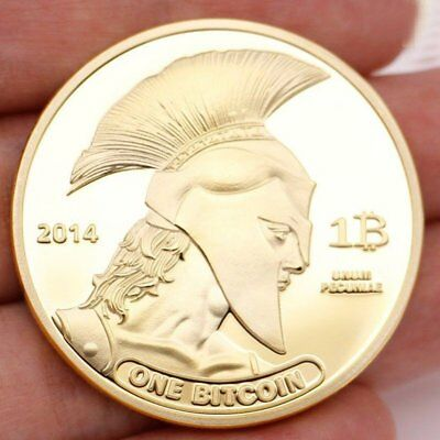 Gold Plated Rare Titan Bitcoin Commemorative Coins Physical Collectible BTC Coin