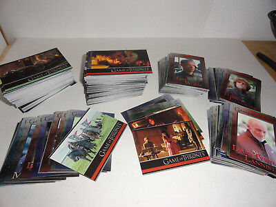 320 Games of Thrones Trading Cards 2 Sets ++
