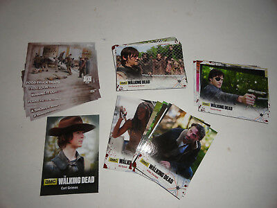 35 Walking Dead Trading cards