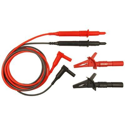 Cliff 1.5m Two Lead Set Unfused Probes to 90deg 4mm Plugs CAT III CIH29890