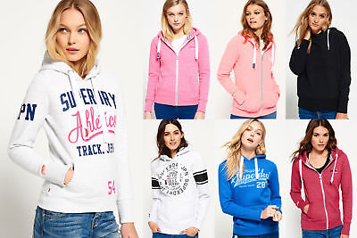 New Womens Superdry Hoodies Selection - Various Styles & Colours 1601 2