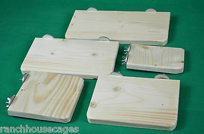 "5 Pack 6"" deep shelves 10,15,20,25,30cm Chinchilla, Degu, Parrot Cage"