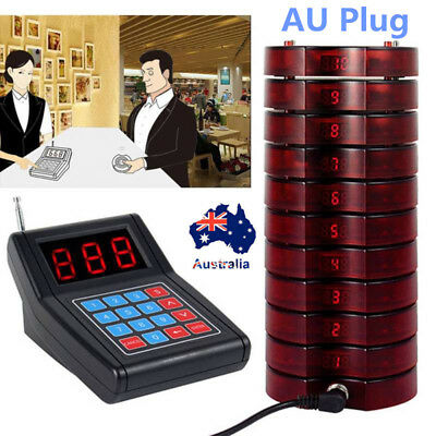 AU Wireless Restaurant Coaster Pager Guest Waiter Calling Paging Queuing System