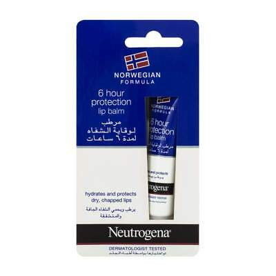 Neutrogena Lip Balm 6 hour Protection for Dry Chapped Lips 15ml (Buy 1,2,3 or 6)
