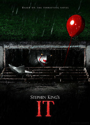 IT 2017 MOVIE Pennywise Stephen King IT2017 A3 A4 POSTER PRINT BUY 2 GET 1 FREE