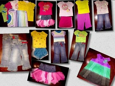Lot of 15 Pieces Of Baby Girls Clothes Sizes 24 Mos Different Brands (BG05)