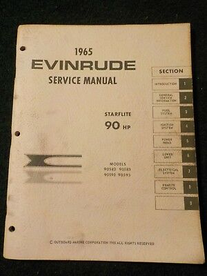 1965 OMC Evinrude Outboard Service Repair Shop Manual 100 HP Starflite DEALER