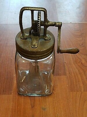 Antique Original Glass  Butter Churn  ~ 2 Quart,  #560 / 2 Circa 1920's