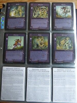 Middle-earth CCG - Against the Shadow - Full set - MECCG