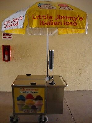 Little Jimmy's Italian Ice Cart With Freezer And Everything To Start Immediately