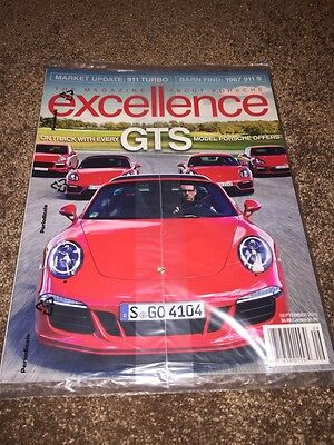 "2015 Porsche Excellence Magazine #230 September ""GTS"" - Factory Sealed"