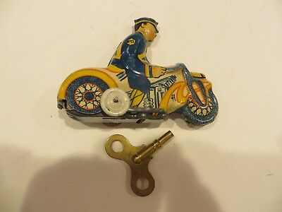 1930's Marx Mystery Police Motorcycle Wind-up  -  Nice & Works!!